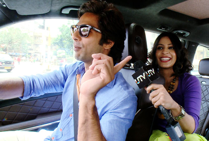 Shahid Kapoor with host Garima