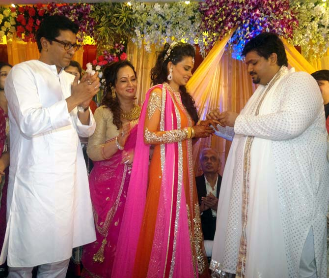 Raj Thackeray, Smita Thackeray, Aditi Redkar, Rahul Thackeray