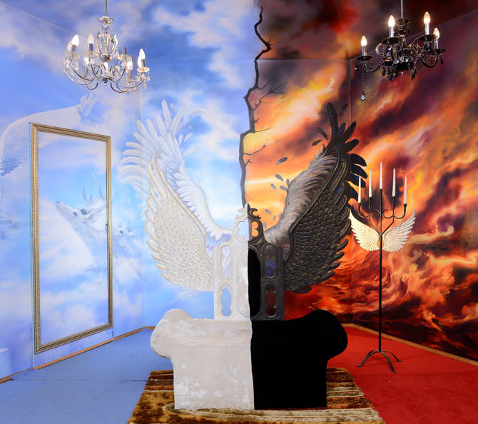 Heaven and Hell confession room