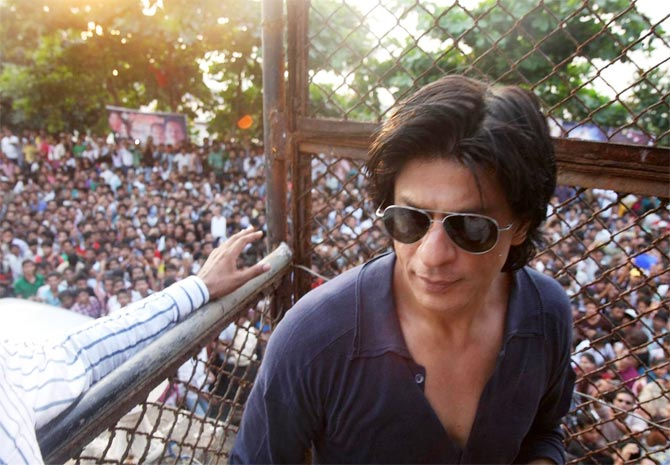 Shah Rukh Khan in Mannat, his palatial residence in Mumbai