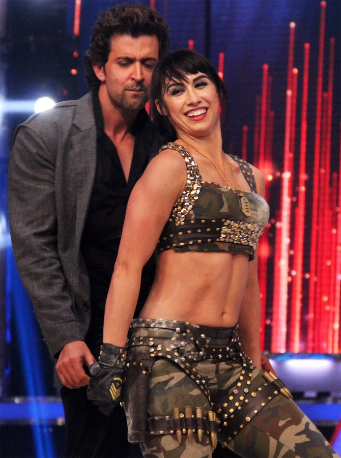 Lauren Gottlieb and Hrithik Roshan on the grand finale of Jhalak Dhikhhla Jaa 6