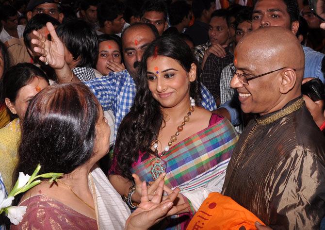 Vidya Balan, Saraswathy and PR Balan