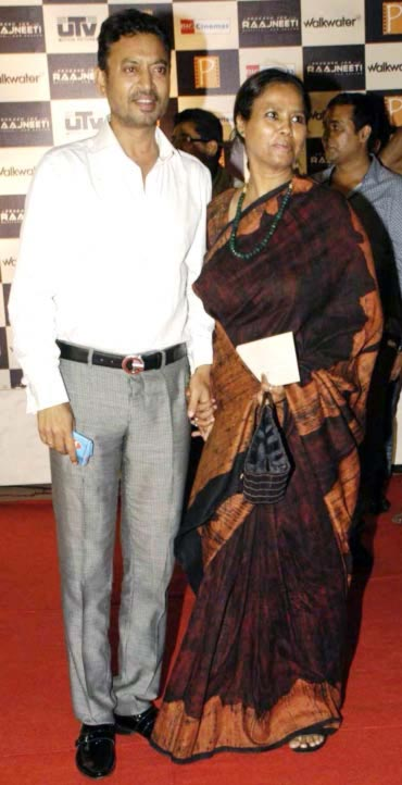 Irrfan Khan with wife Sutupa