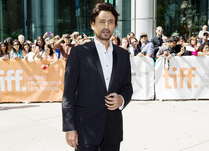 Irrfan Khan at Toronto Film Festival, where The Lunchbox was screened