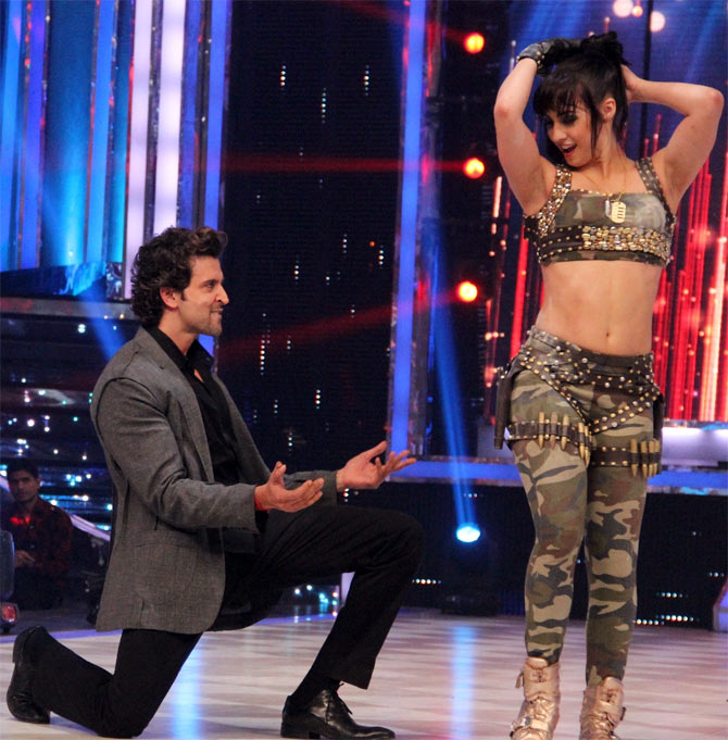 Hrithik Roshan and Lauren Gottlieb on Jhalak Dhikhhla Jaa