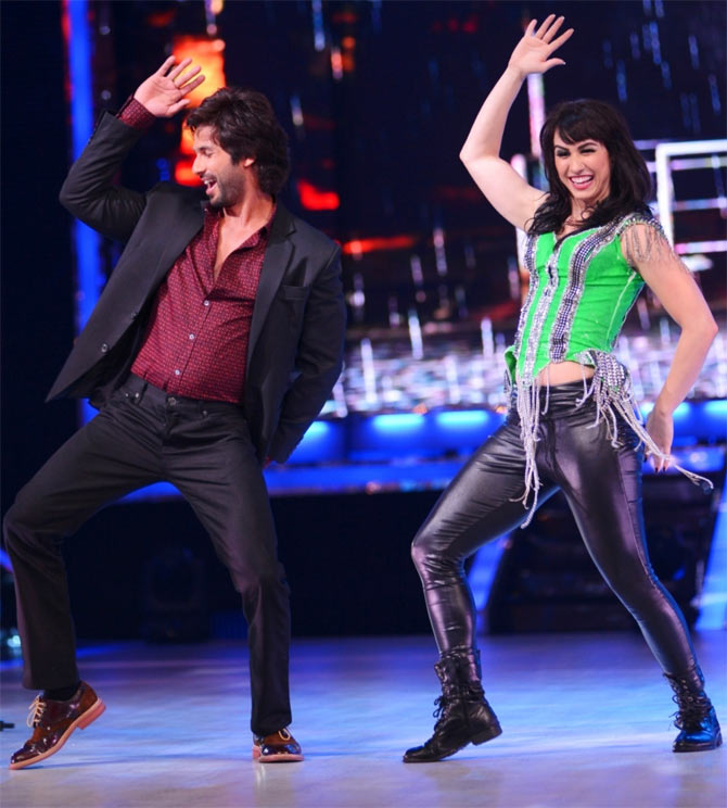 Shahid Kapoor and Lauren Gottlieb on Jhalak Dhikhhla Jaa