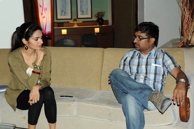 Madhoo with director Mohanakrishna Indraganti