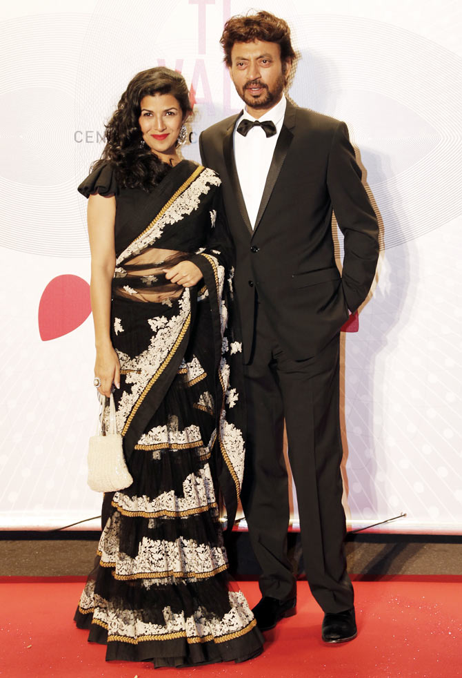 Nimrat Kaur and Irrfan Khan at the 66th Cannes Film Festival in Cannes