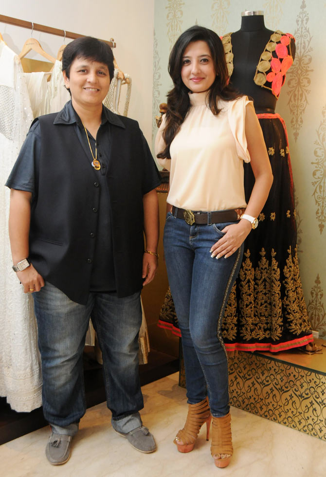 Falguni Pathak and Amy Billimoria