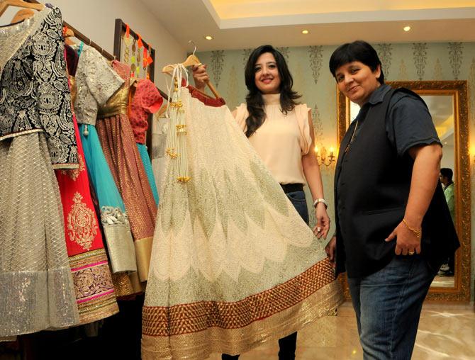 Amy Billimoria and Falguni Pathak