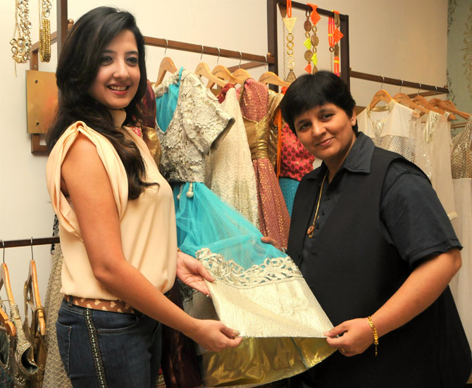 Amy Billimoria and Falguni Pathak