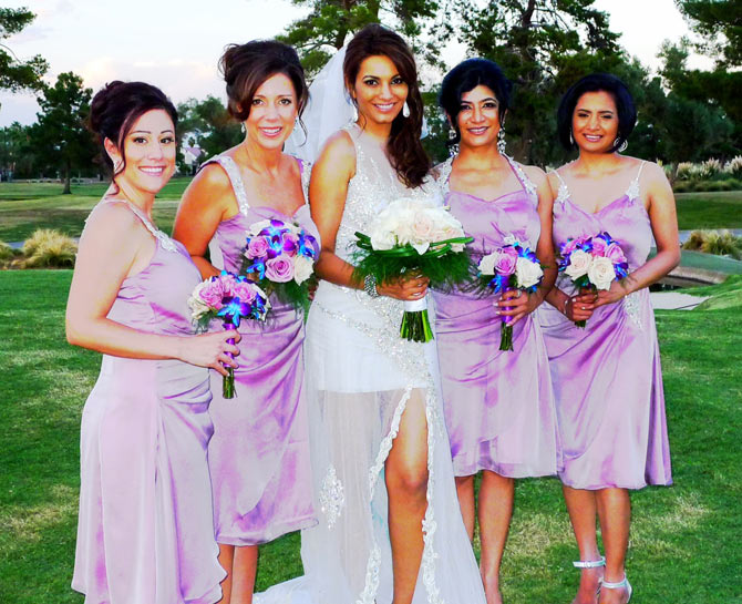 Diana Hayden with her bridemaids