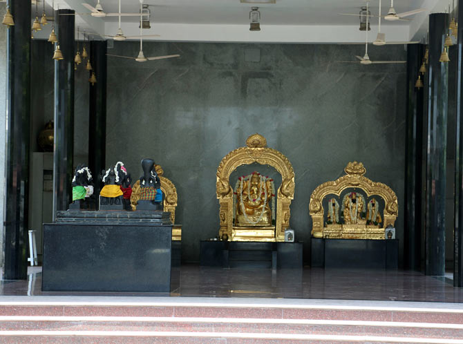 A temple set inside AVM studio