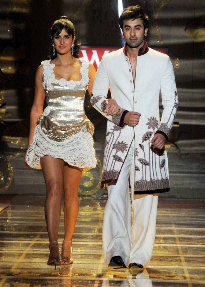 Katrina Kaif and Ranbir Kapoor at the Wills Lifestyle India Fashion Week in 2009