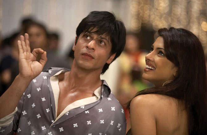 Shah Rukh Khan and Priyanka Chopra in Don