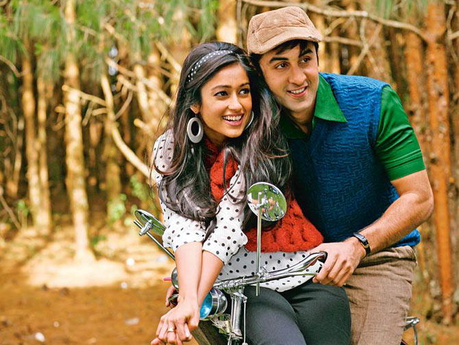 Ranbir Kapoor and Ileana D'Cruz in Barfi!