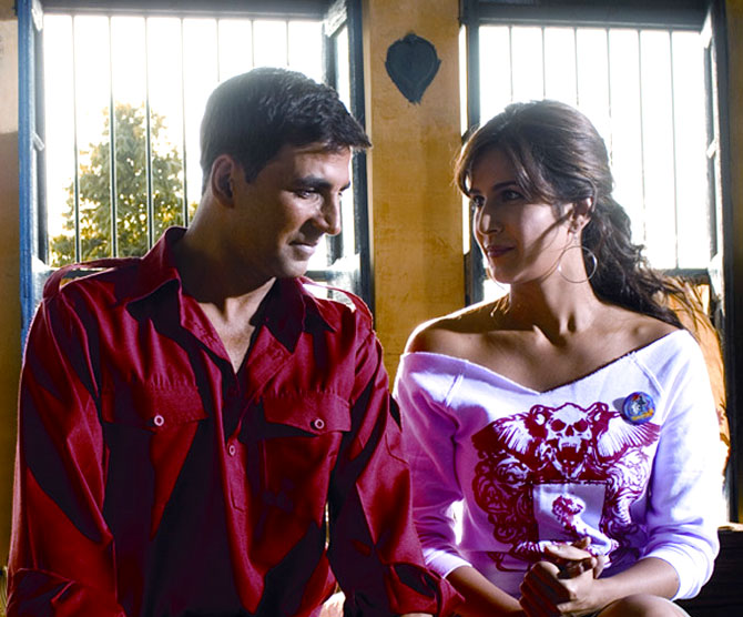 Akshay Kumar and Katrina Kaif in Sngh Is Kingg
