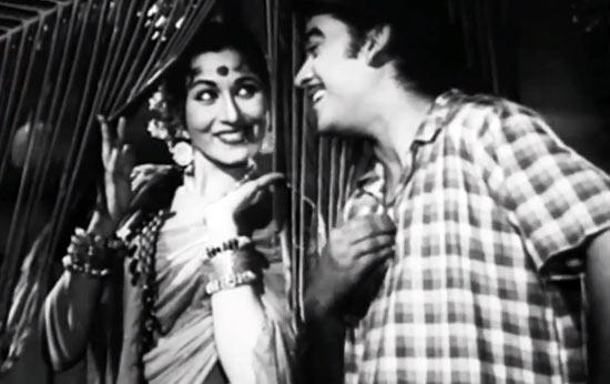 Madhubala and Kishore Kumar in Half Ticket