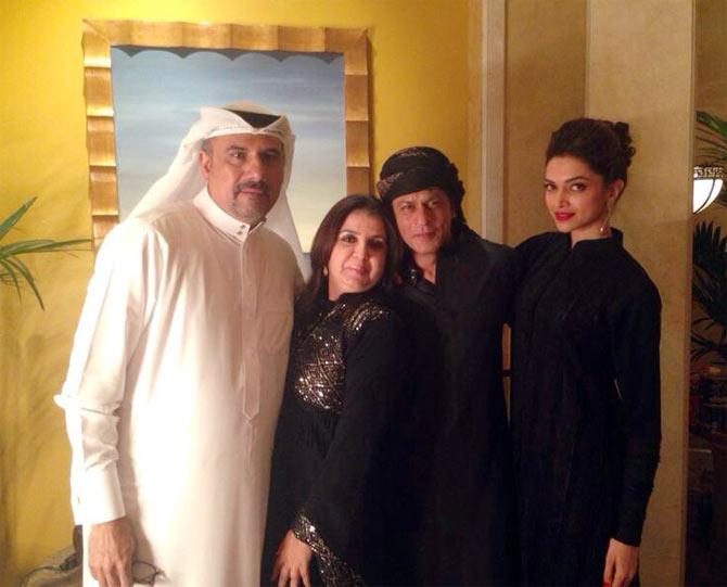Boman Irani, Deepika Padukone, Shah Rukh Khan and Farah Khan