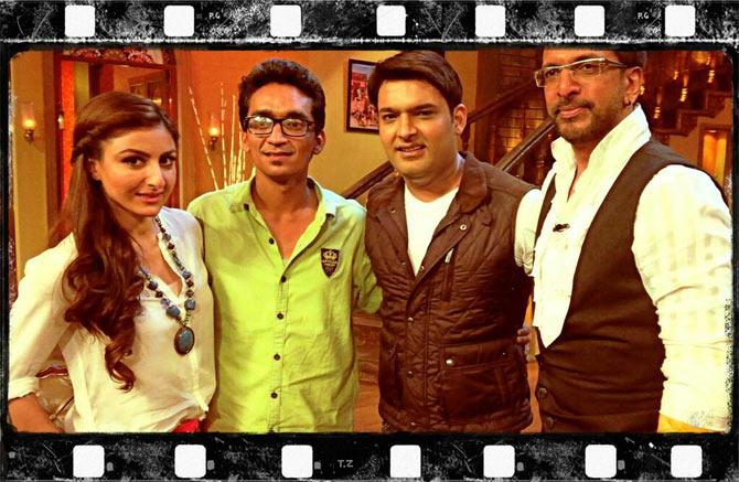 Soha Ali Khan, director Faraz Hider, Kapil Sharma, Jaaved Jaaferi