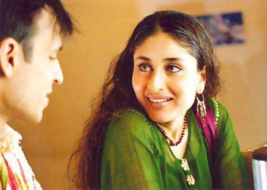 Vivek Oberoi and Kareena Kapoor in Yuva