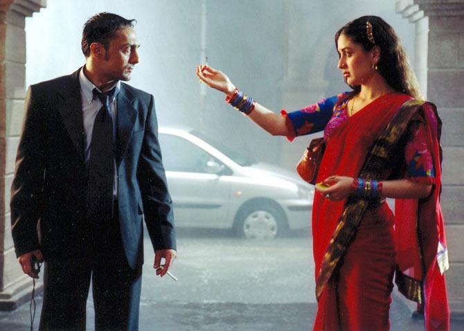 Rahul Bose and Kareena Kapoor in Chameli