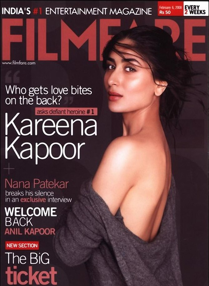 Kareena Kapoor on a Filmfare cover