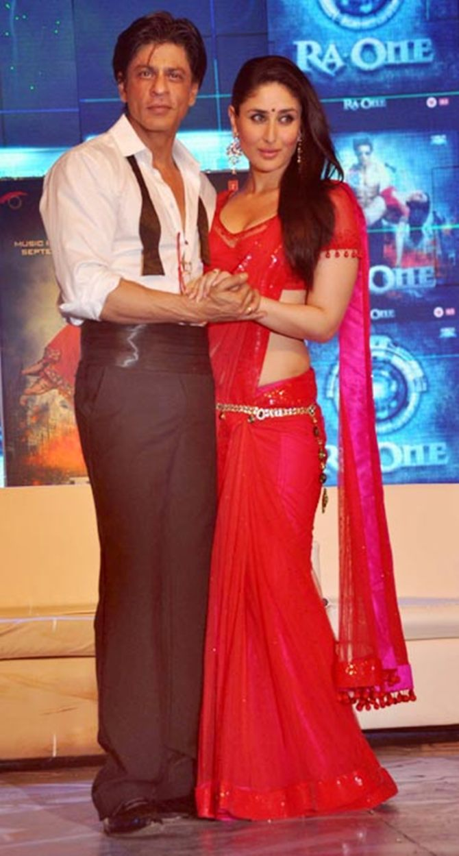 Kareena Kapoor with Ra.One costar Shah Rukh Khan