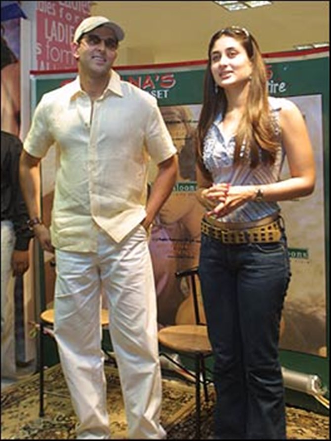Kareena Kapoor with Hrithik Roshan