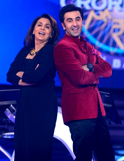 Neetu and Ranbir Kapoor on Kaun Banega Crorepati 7