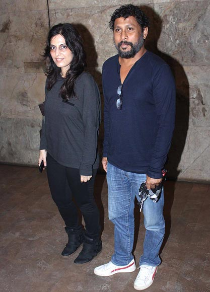 Writer Juhi Chaturvedi and Shoojit Sircar