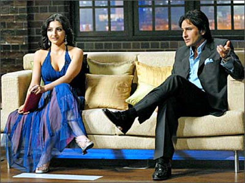 Soha and Saif Ali Khan in Koffee With Karan