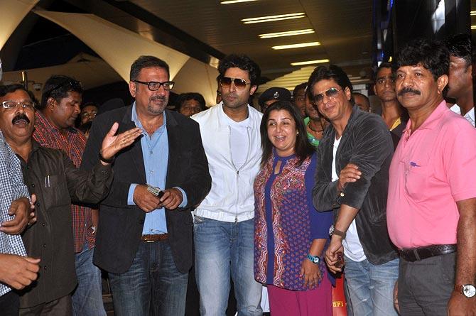 Boman Irani, Abhishek Bachchan, Farha Khan and Shah Rukh Khan