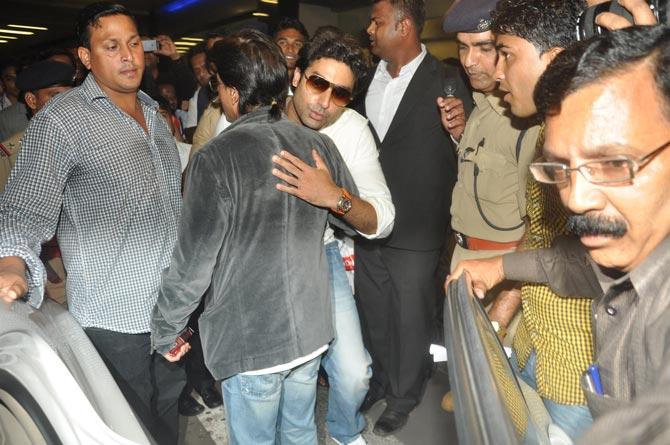 Abhishek Bachchan and Shah Rukh Khan