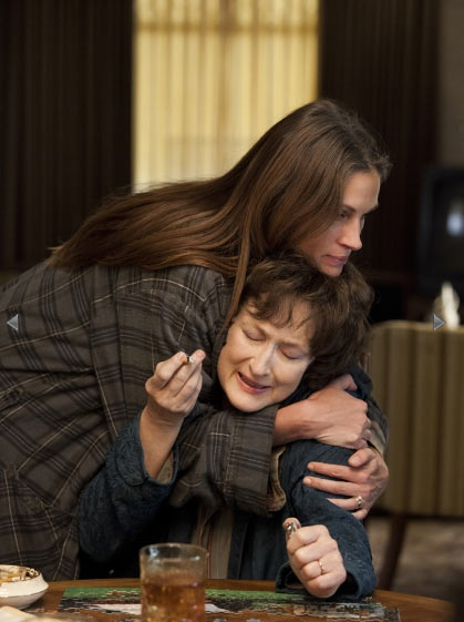 Julia Roberts and Meryl Streep in August, Osage County