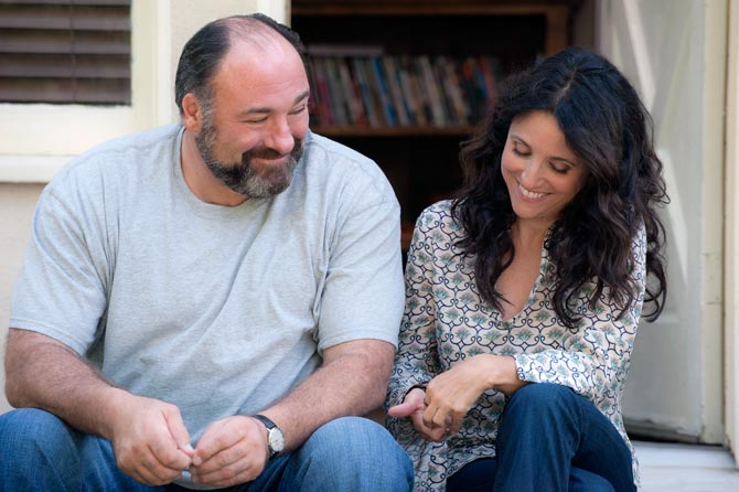 James Gandolfini and Julia Louis-Dreyfus in Enough Said