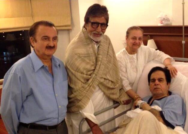 Amitabh Bachchan, Saira Banu and Dilip Kumar