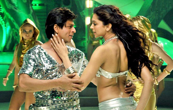 Shah Rukh Khan and Deepika Padukone in Billu