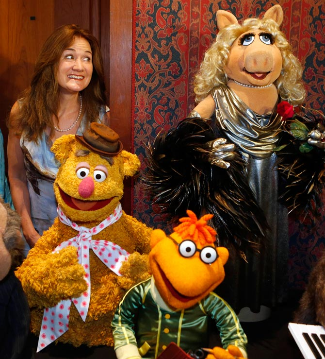 Cheryl Henson with the Muppets
