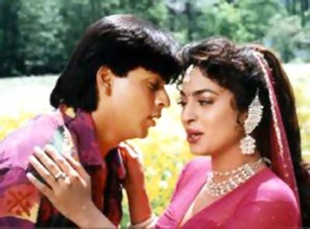 Juhi Chawla with Shah Rukh Khan in Darr