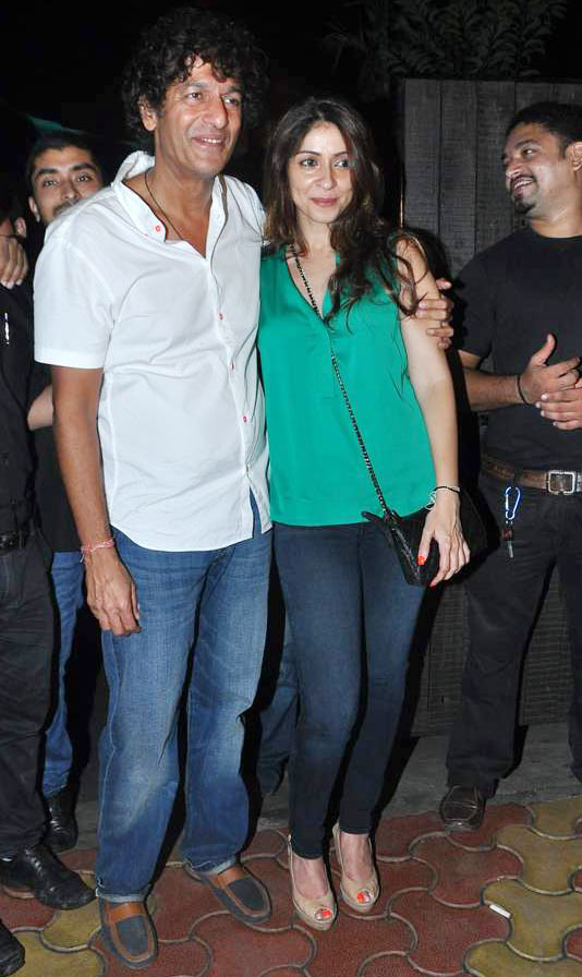 Chunky Pandey and Bhavna