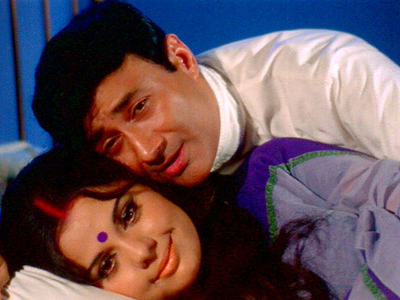 Mumtaz and Dev Anand in Tere Mere Sapne