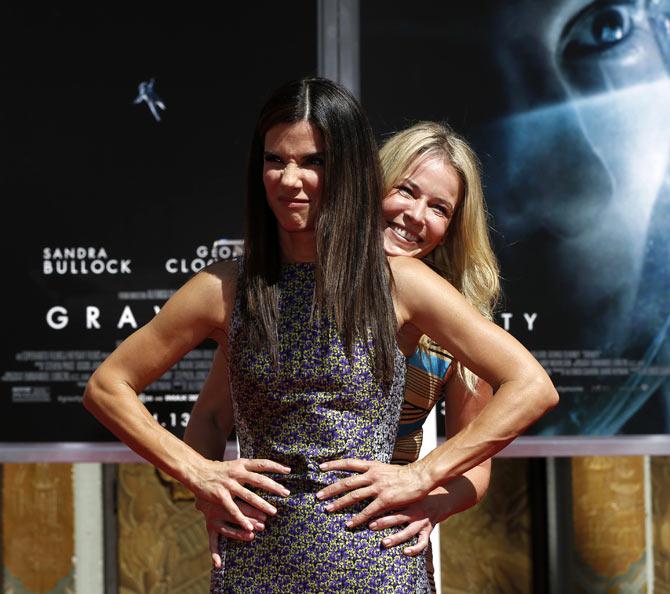 Sandra Bullock with Chelsea Handler