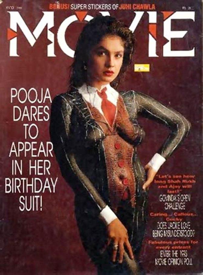 Pooja Bhatt on the cover of Movie magazine