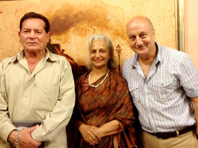 Salim Khan, Waheeda Rehman and Anupam Kher
