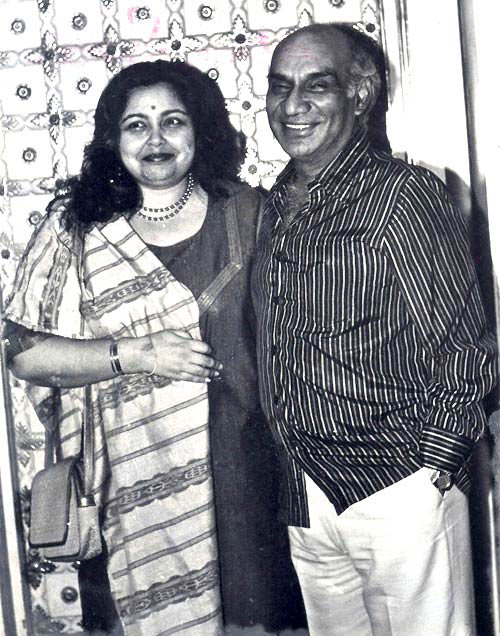 Pamela Chopra and Yash Chopra