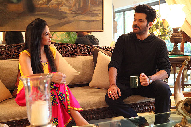 Anil Kapoor with the host Garima
