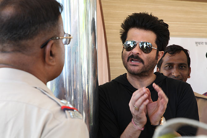 Anil Kapoor on the sets of 24