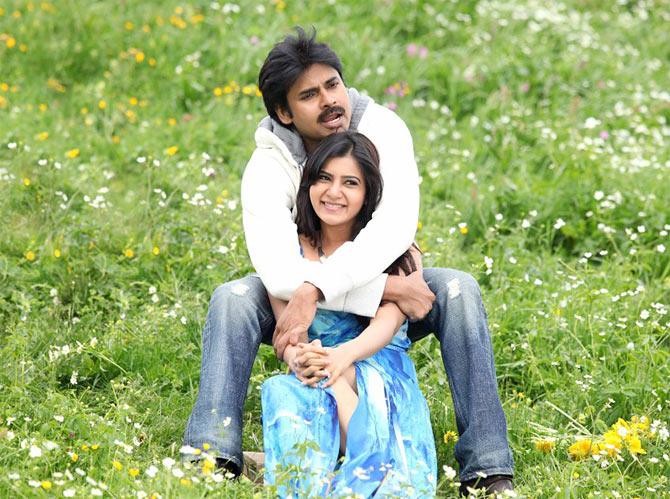 Pawan Kalyan and Samantha in Attarintiki Daaredi