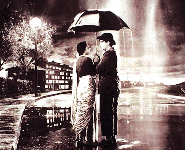 Nargis Dutt and Raj Kapoor in Shree 420